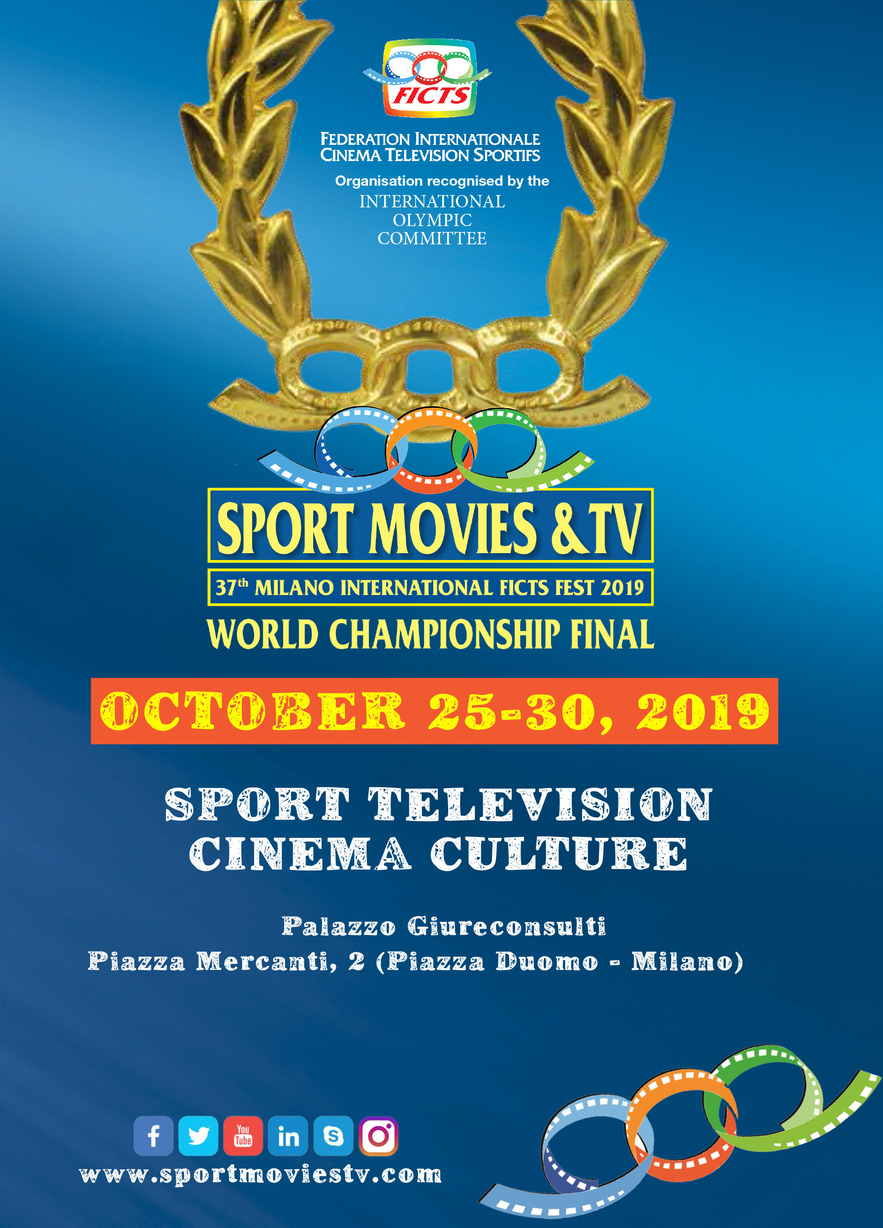 """SPORT MOVIES & TV 2019 - MILANO INTERNATIONAL FICTS FEST"""