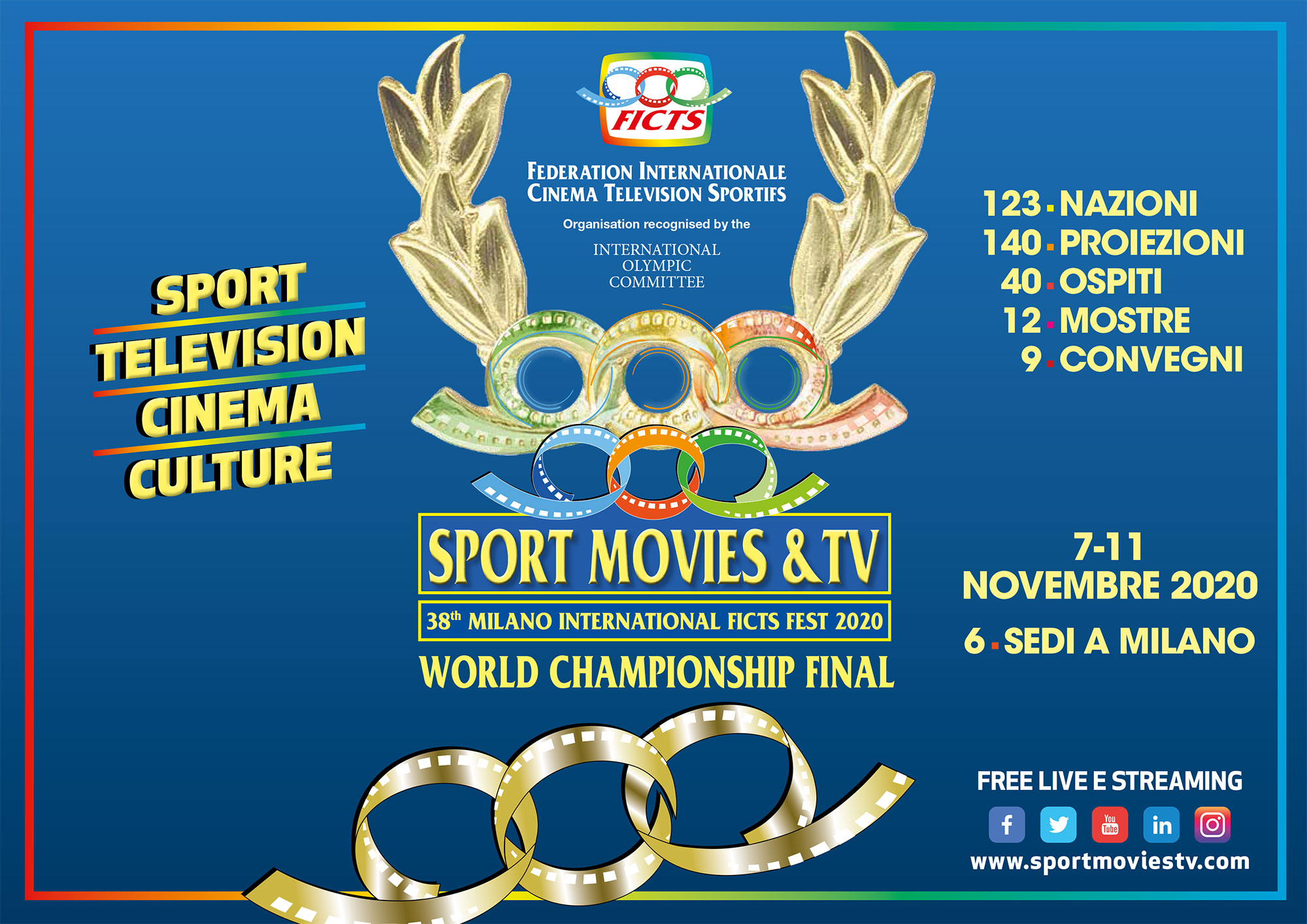 """SPORT MOVIES & TV 2020 - MILANO INTERNATIONAL FICTS FEST"""